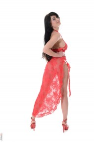 Lucy Li in red - Lucy Li Stripper Name