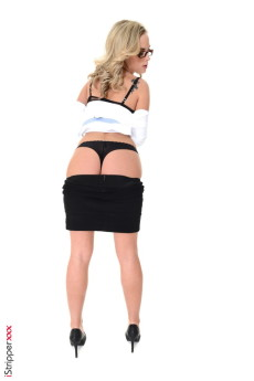 Solo strip in office - Stripper Name Vinna Reed